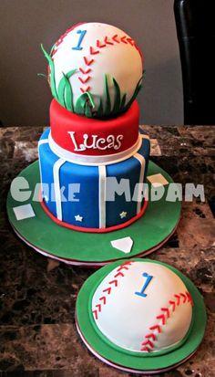 baseball themed birthday cake Google Search Edwins 1st Birthday