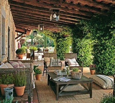 Outdoor Living Furniture Patio Porch Tuscan Style