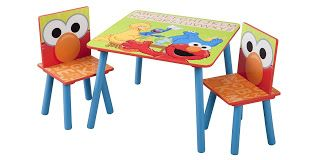 This Is Another Cool Wooden Elmo Table And Chair Set That Costs A