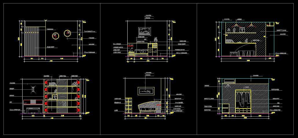 Childrenu0027s Room Design Template CAD Library