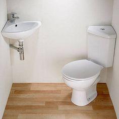 Superior Crazy Small Bathroom Solution: Corner Sink, Corner Toilet