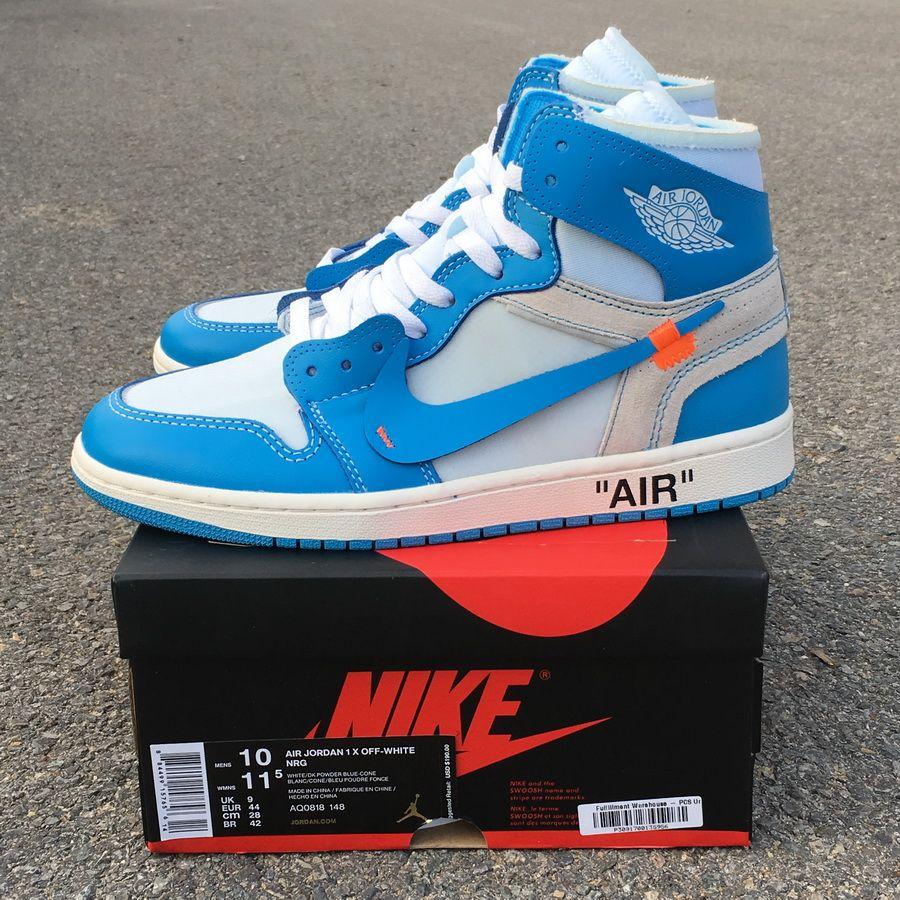 Off White X Air Jordan 1 Powder Blue