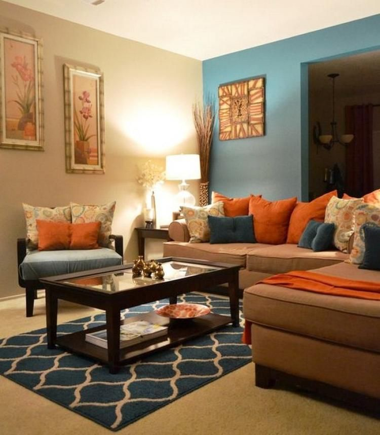 75 Best Ideas To Decorate Your Living Room With Turquoise Accents Ruang Tamu Biru Skema Warna Ruang Tamu Warna Ruang Tamu