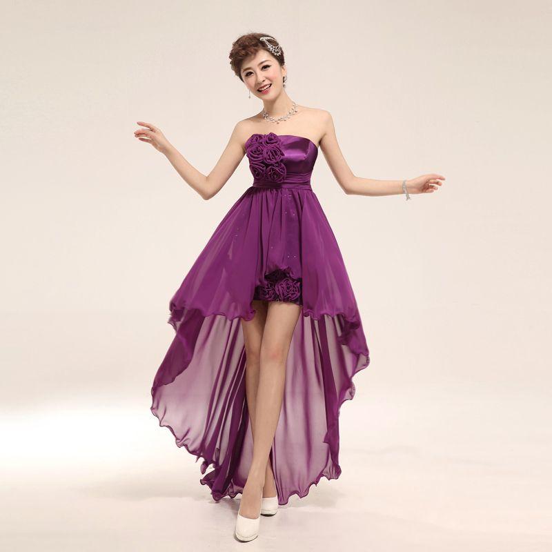 Diseño de vestidos de fiesta cortos corto, púrpura. | Boda de Anais ...