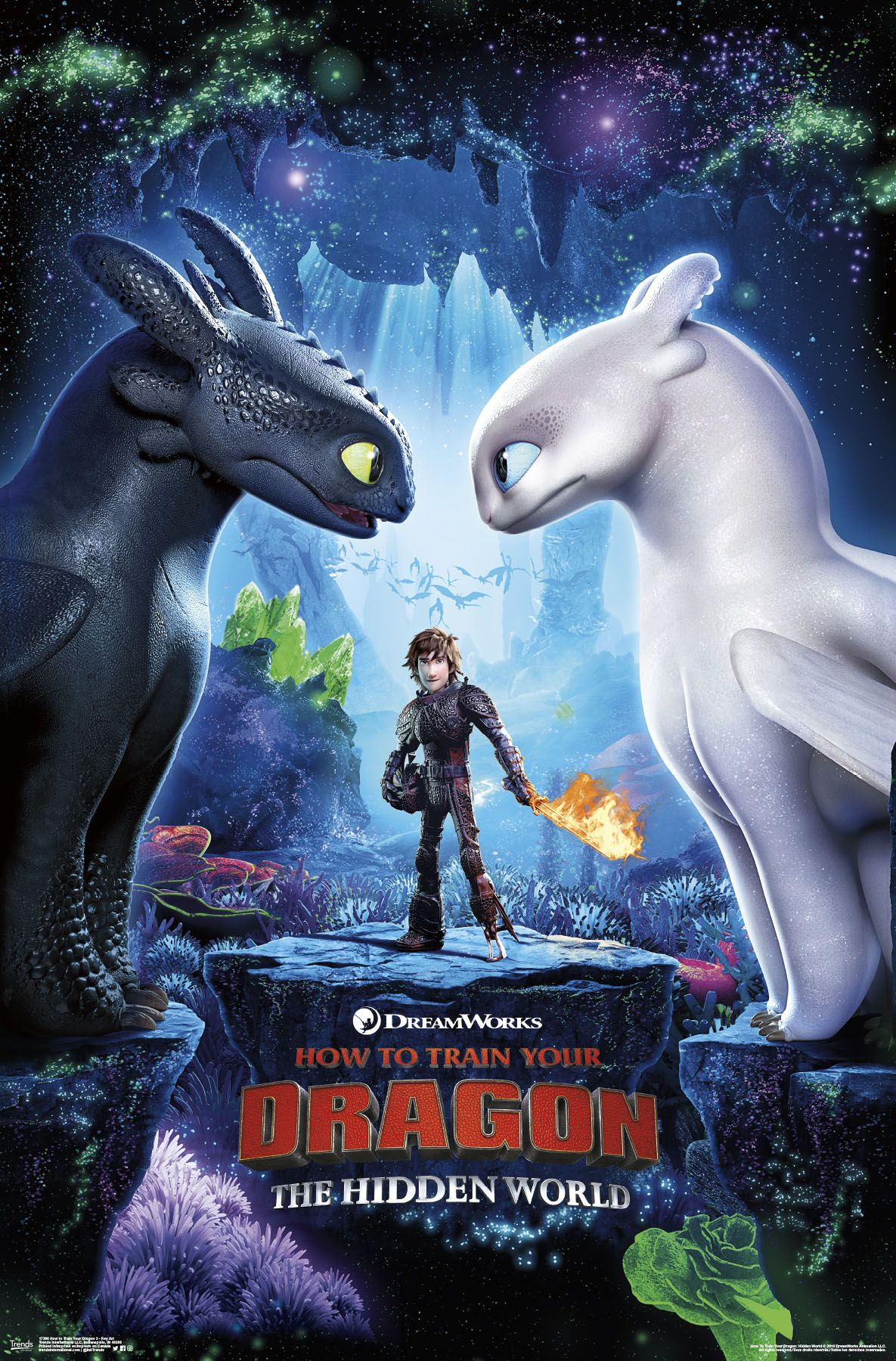 How To Train Your Dragon 3 Key Art Poster And Poster Clip Bundle How Train Your Dragon How To Train Your Dragon Outfit Ideas Black Girl School