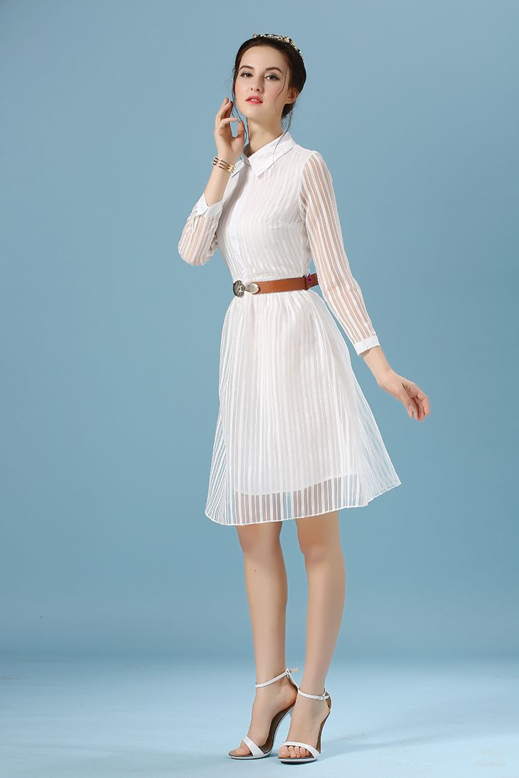 Summer White Dress Long Sleeve | Summer Dresses | Pinterest ...