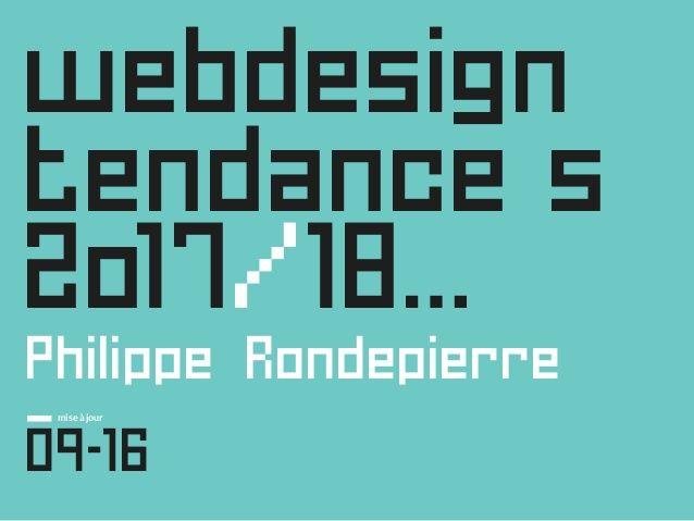 Tendances Web Design 2017, et après…