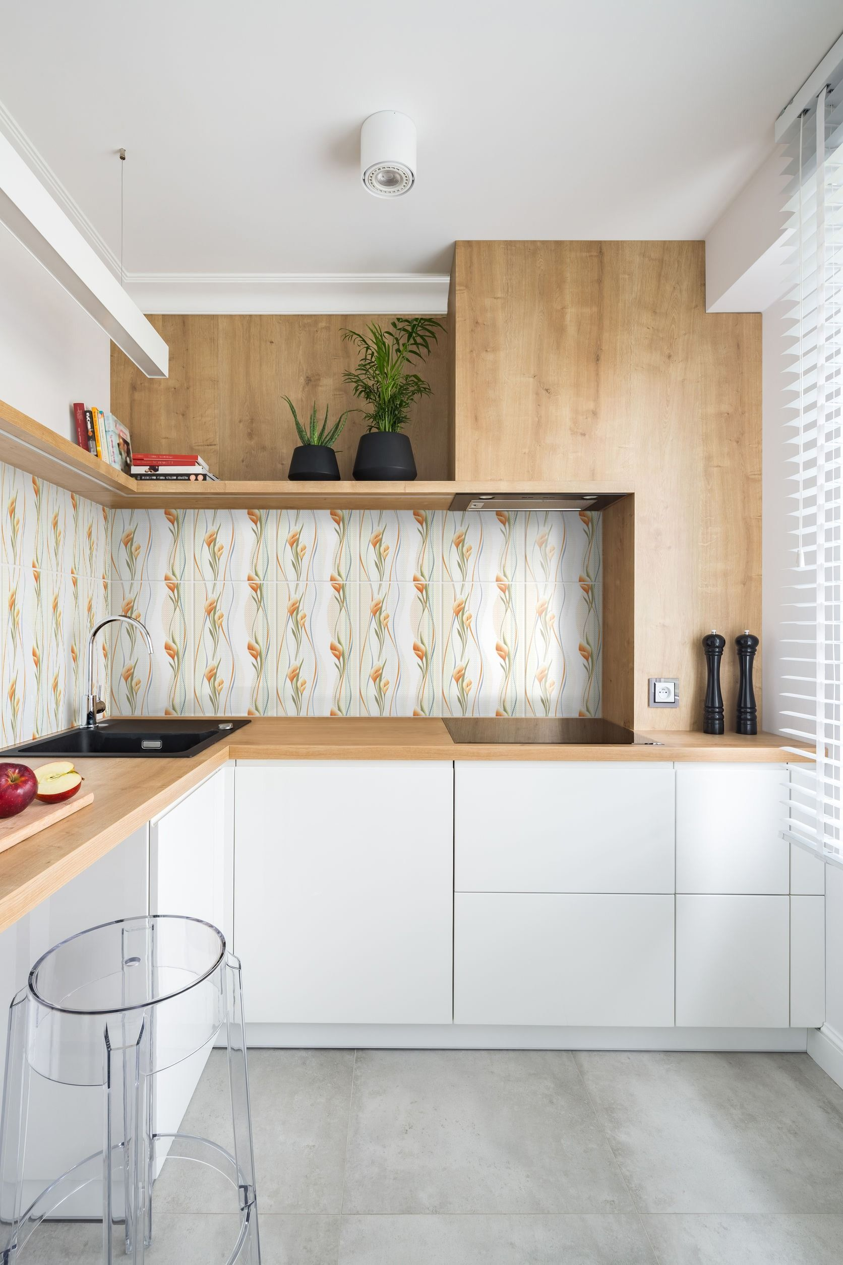 Keramik Dapur Motif Bunga