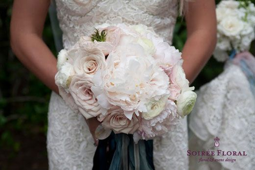 Garden Roses Peonies Hydrangea And Ranunculas For Bridesmaids