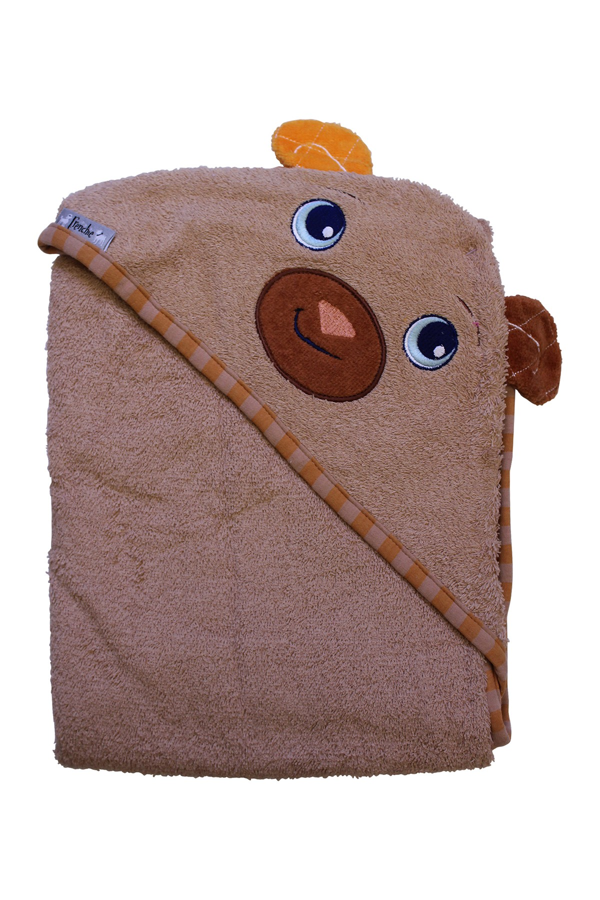 Boy Frenchie Mini Couture Bear Hooded Towel Set 3 Pack