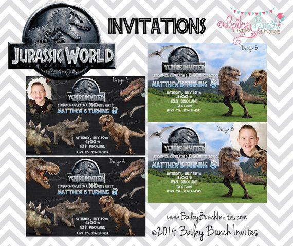 Jurassic World Birthday Invitation by BaileyBunchInvites on Etsy