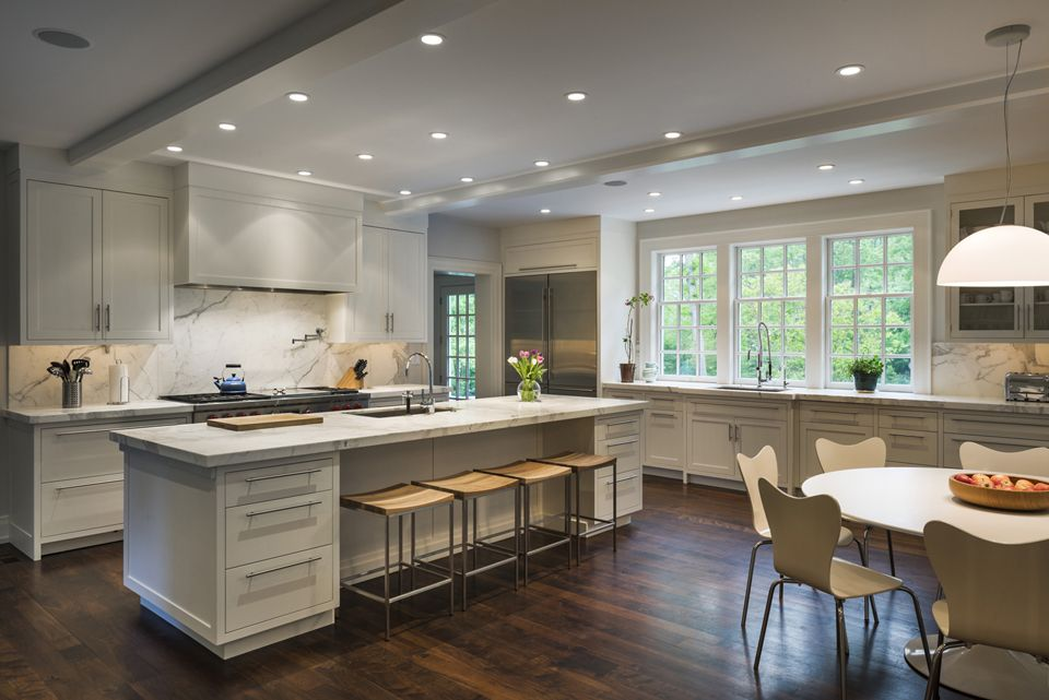Main Line Residence White modern kitchen, White