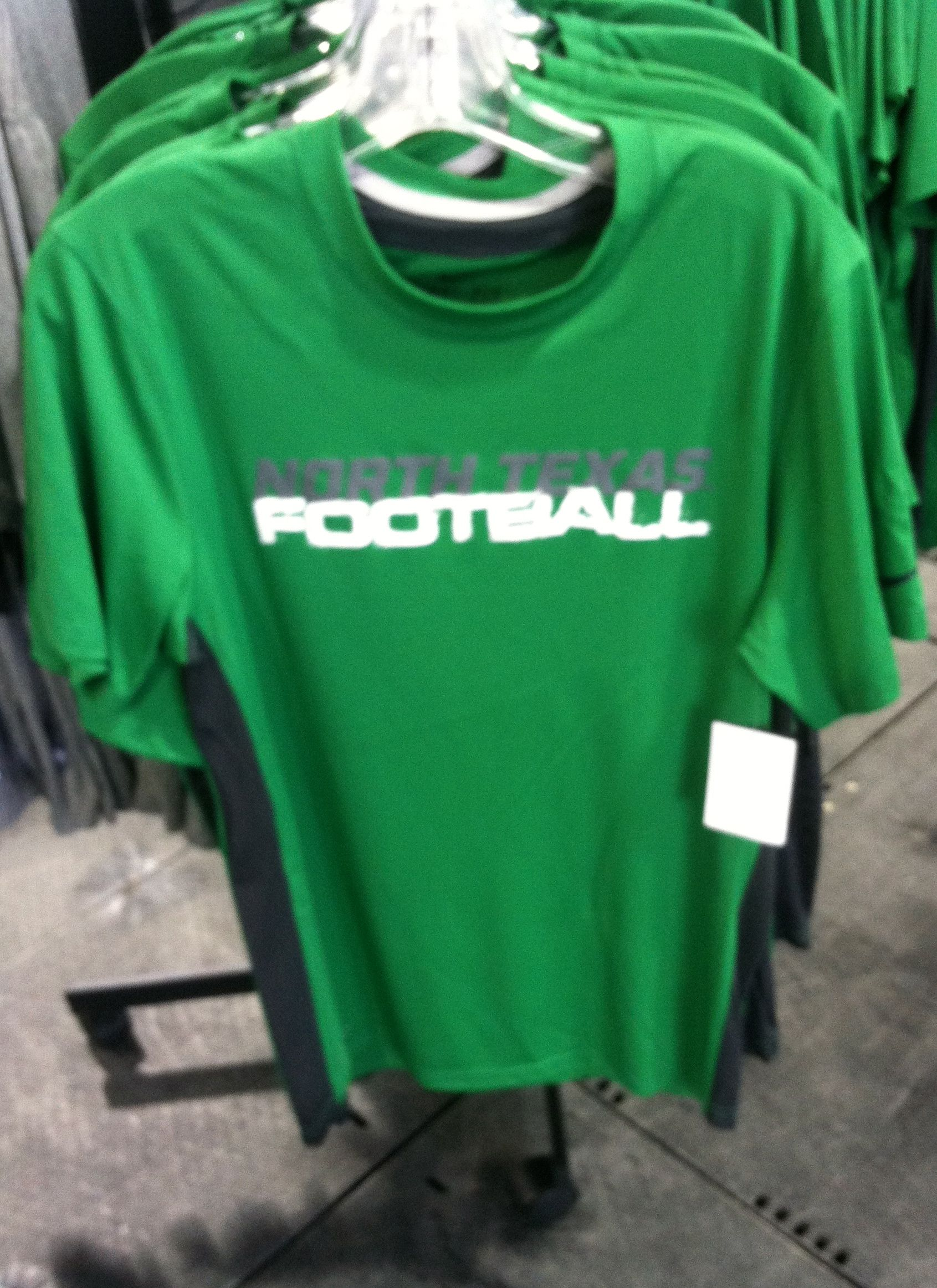 8b76087e5cf2 Nike DriFit North Texas Football shirt  45.00 at the UNT Barnes and Noble  bookstore white tent