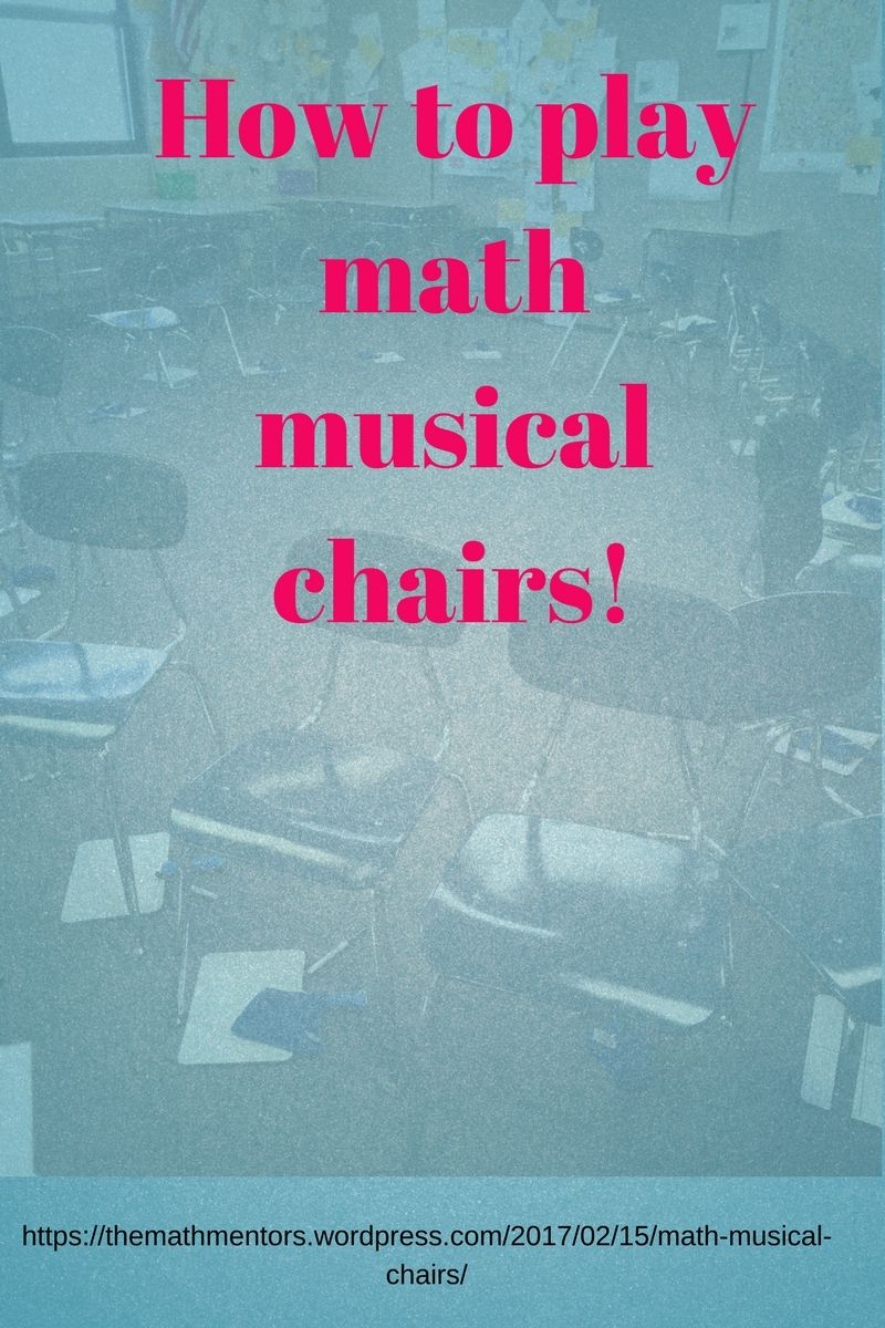 How to play math musical chairs | Read full post here https://www ...