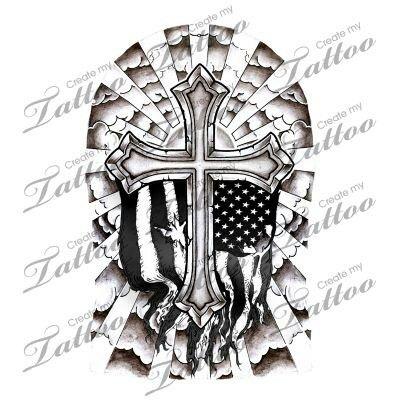 c416d787f Badass looking | tattoos | Half sleeve tattoos cross, Sleeve tattoos ...