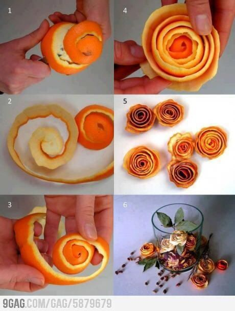 Make a room smell like oranges and look beautiful with these fake roses.