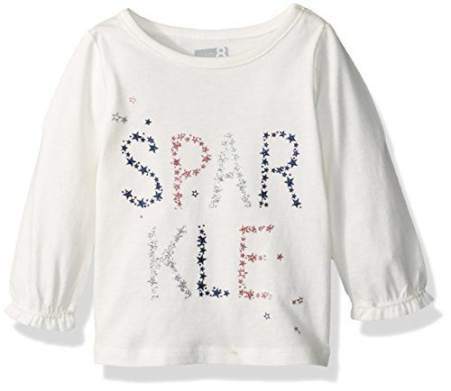 74fb5c7f87d4 Crazy 8 Girls LongSleeve Fashion Graphic Tee Sparkle 1824 -- Click image  for more details.Note:It is affiliate link to Amazon.