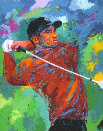 Al Sorenson Art Tiger Woods Canvas 18X24  318f064df