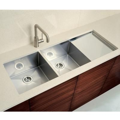 Blanco Precision Double Sink With Drain Board Undermount Kitchen