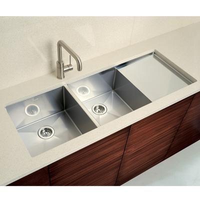 Blanco Precision Double Sink With Drain Board Undermount Kitchen Sinks Square Kitchen Sink Kitchen Sink Drainboard