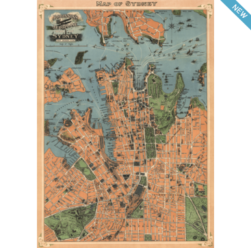 Sydney map wrapping paper from cavallini co available at sydney map wrapping paper from cavallini co available at bobangles gumiabroncs Images