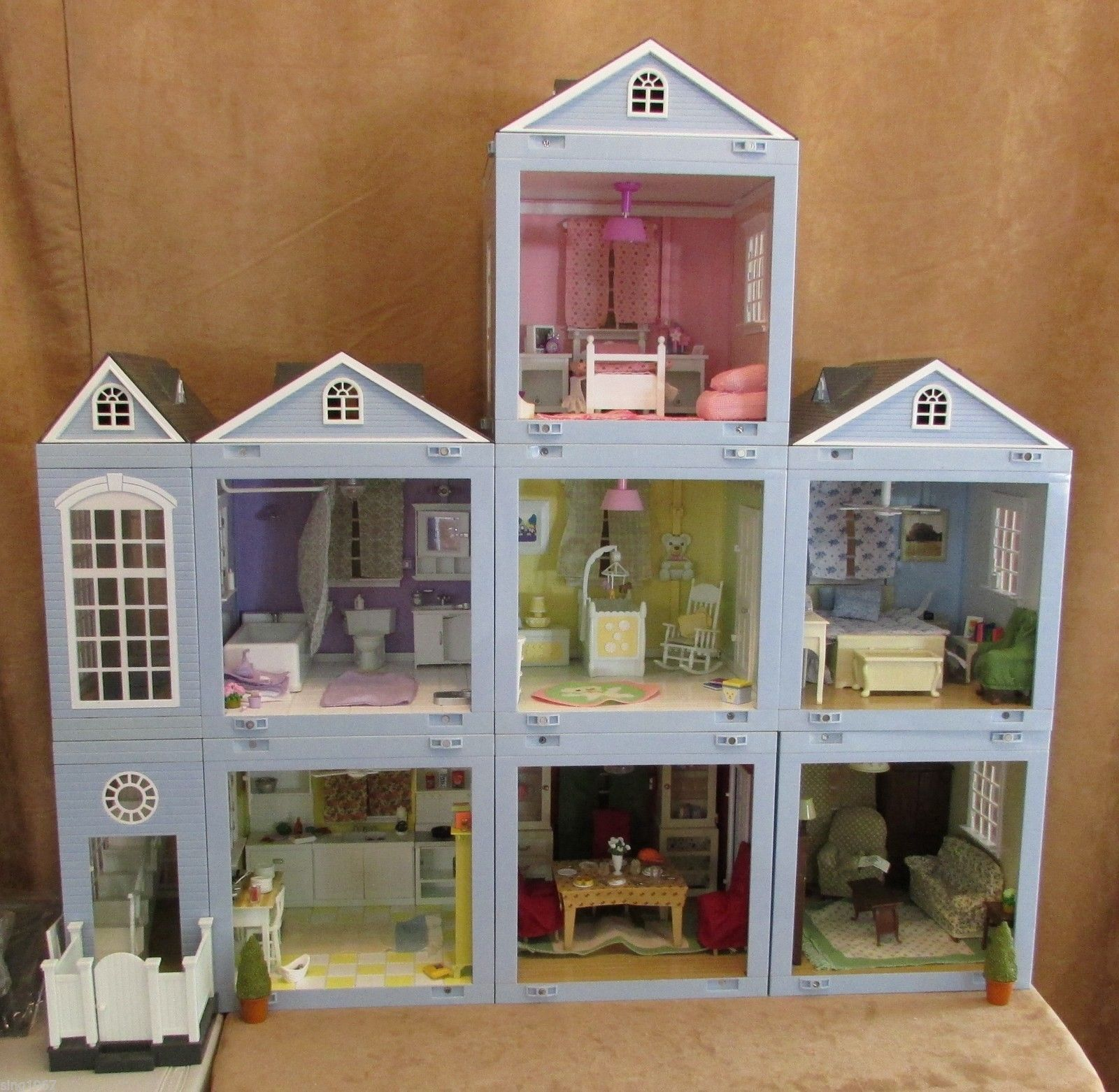 Laura Ashley Bedroom Furniture Ebay Laura Ashley Decorator Dollhouse Lot Rooms Roof Furniture 8 Room