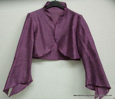 TORERA O BOLERO CON PATRONES GRATIS | Costura moda | Pinterest