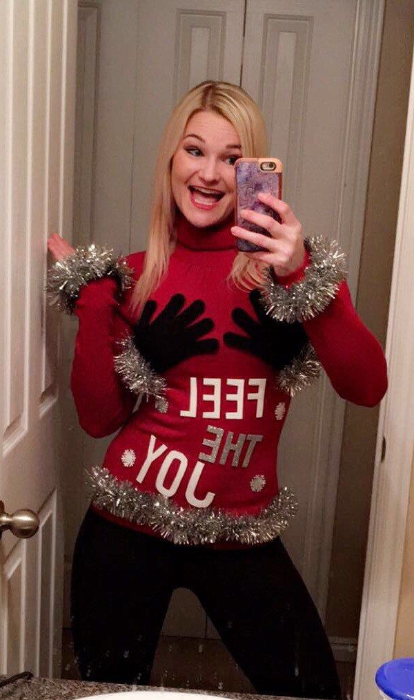 ugly christmas sweater 3d custom naughty xmas sweater women feel the joy sweater red size s ready to ship by staticthreads1 on etsy - Feel The Joy Christmas Sweater