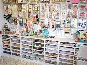 Peg Board To Hang Stickers And Embellishments Craftroom
