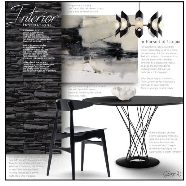 Sleek Black by gracekathryn on Polyvore featuring interior ...