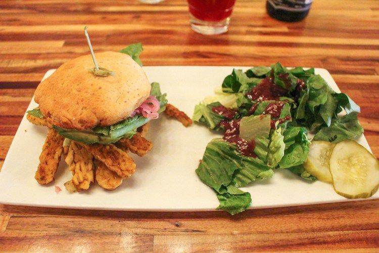 Blackened Tempeh Avocado Sandwich Greene Cafe In Ferndale Michigan Vegan Restaurant Sincerely Liv