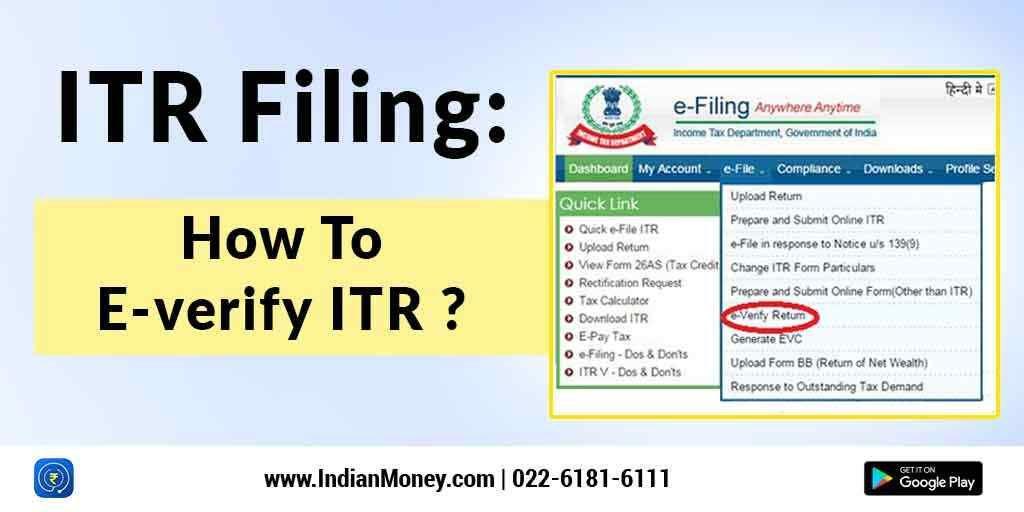 Itr filing how to everify itr tax return