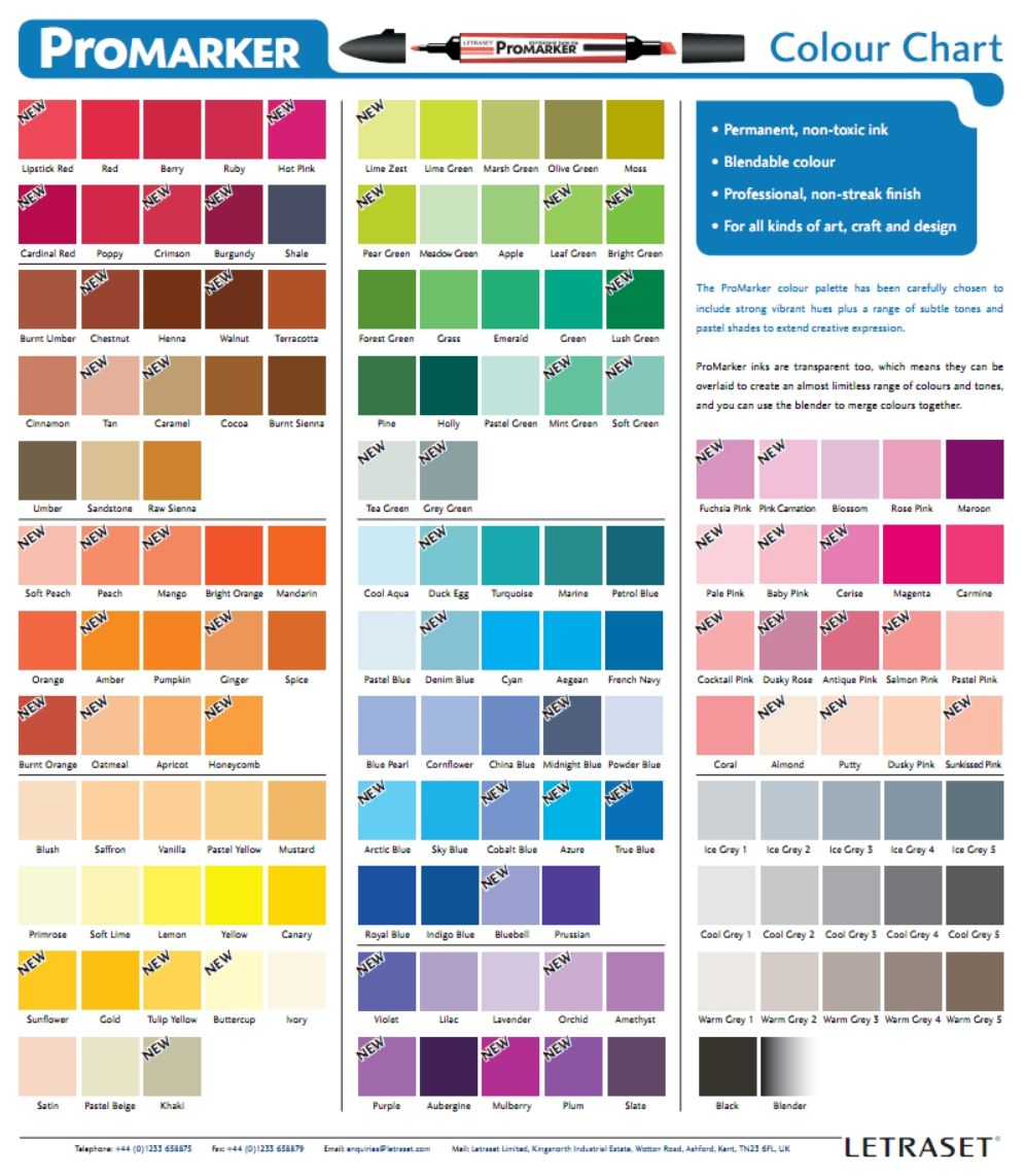 Promarker color chart color and drawing inspiration pinterest promarker color chart nvjuhfo Choice Image