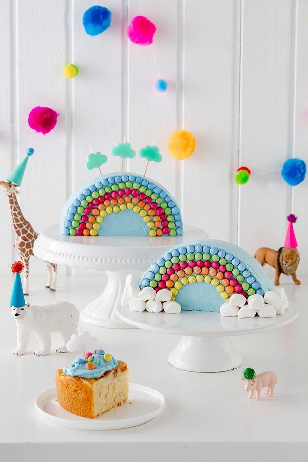 Regenbogenkuchen - leicht mit Kindern zu verzieren