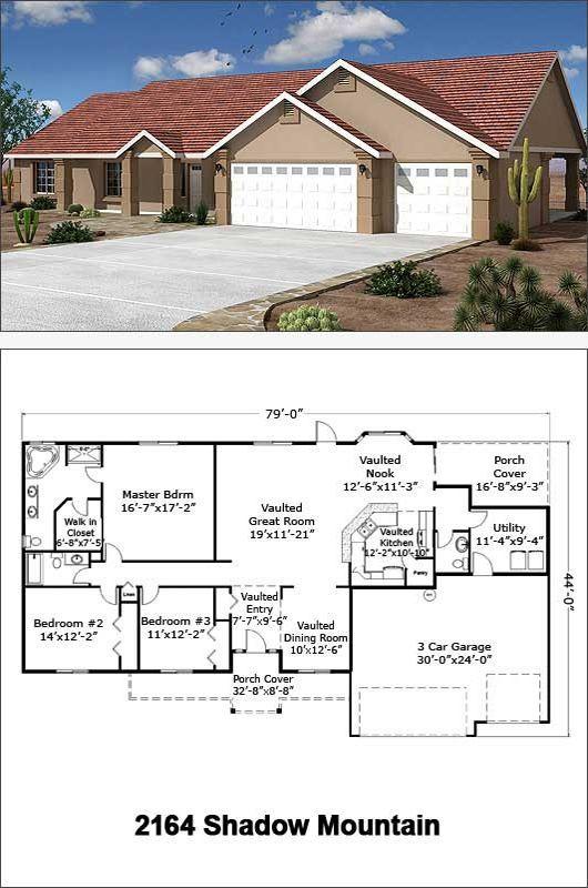 2164 Sf Shadow Mountain Architectural Design House Plans New House Plans Craftsman Style House Plans