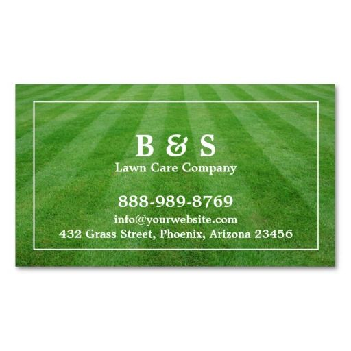 Lawn Care Field Grass Business card | Lawn care, Lawn and Business ...