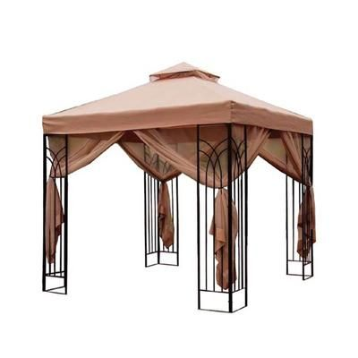Perfect Home Essentials 10 X 10 Cabin Style Steel Gazebo Home Depot Canada Founde