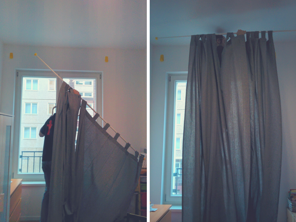 The Best Way To Hang Curtains Without Drilling With Images