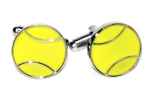 Silver-Tone Tennis Cuff Links