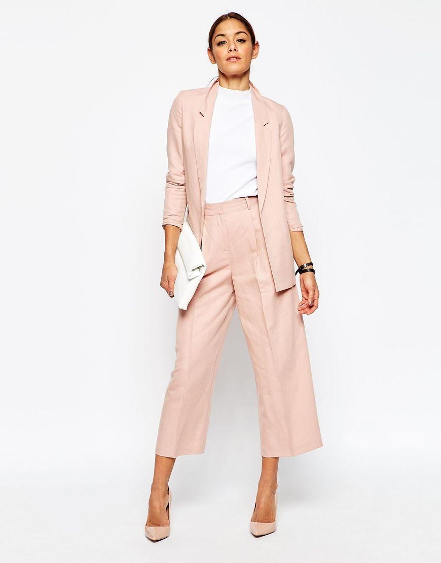 Fashion · ASOS Premium Linen Clean Suit Blazer ...