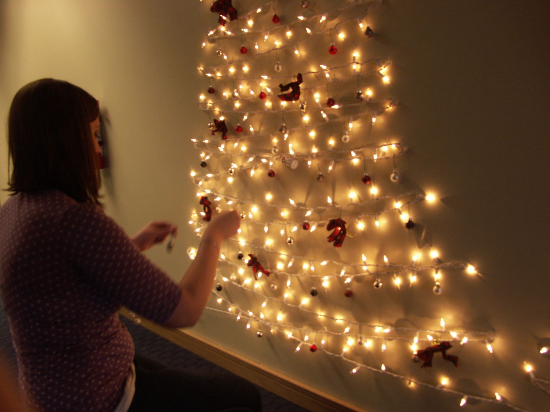 How To String Lights On A Christmas Tree Hanging Ornaments On Alternative Tree  M A K E  Pinterest  Light