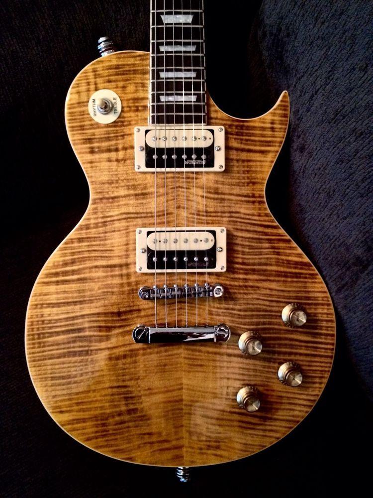 New Vintage V100afd Paradise Flamed Slash Lp Guitar Case Available Guitar Case Guitar Guitars For Sale