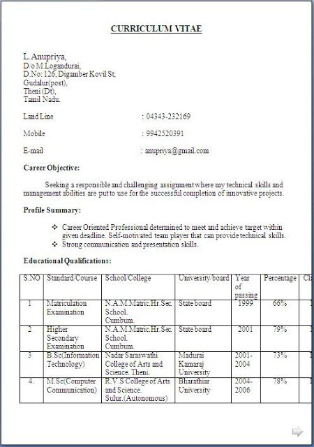 student sample resume Excellent Curriculum Vitae / Resume / CV - resume or curriculum vitae