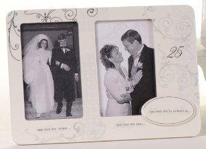 Wedding anniversary photo frames : 25th wedding anniversary always be photo frame then and now $40 at