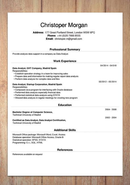 Free CV Creator Maker / Resume Online Builder PDF