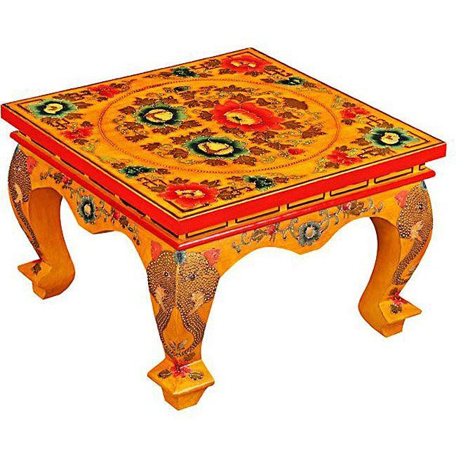 U003cliu003e Tibetan Square Coffee Table Adds Eastern Style To Your  Decoru003c/liu003eu003cliu003eTextured Asian Elephants Are Featured On Symmetrically  Hand Carved Cabriole Table ...