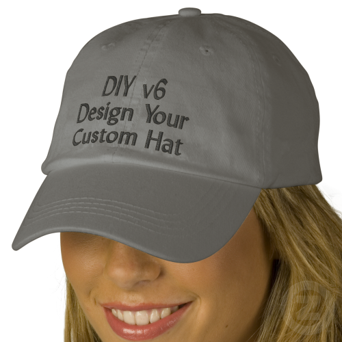 Diy Design Your Own Custom Baseball Hat V06a Zazzle Com Custom Baseball Hats Embroidered Hats Baseball Hats