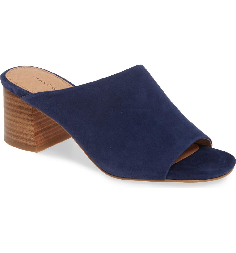 Faye Asymmetrical Slide Sandal (Women