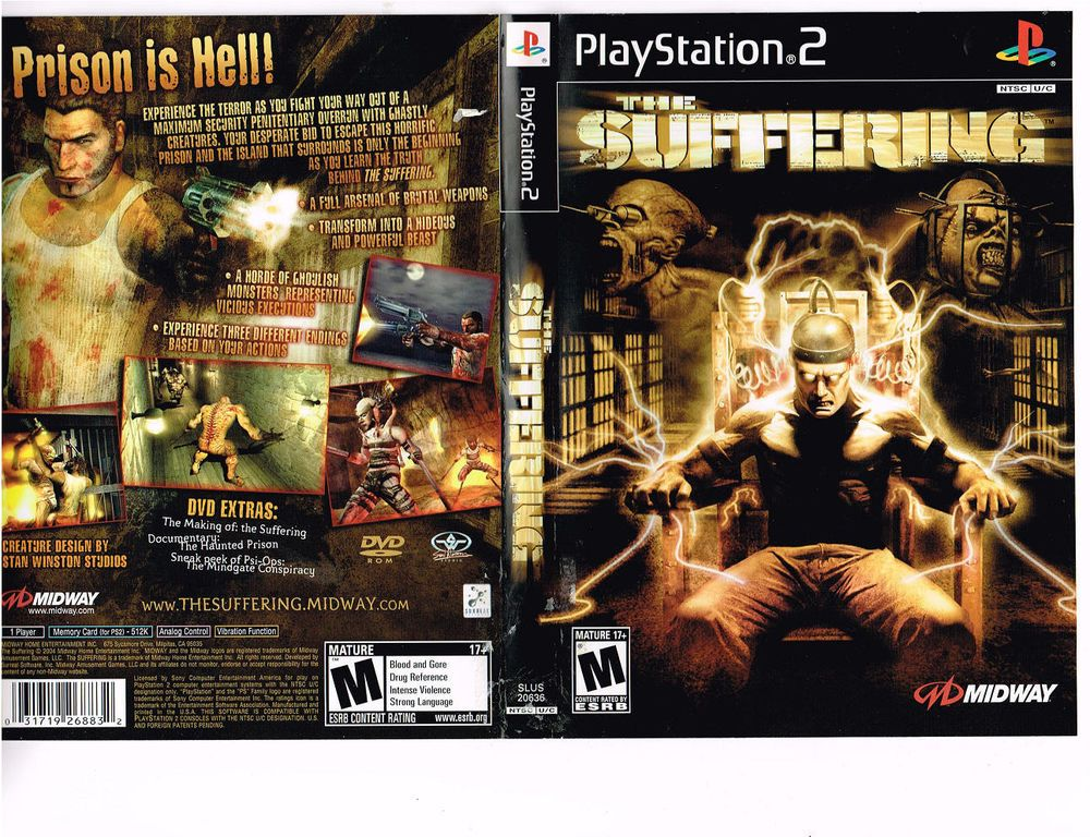 The Suffering Sony Playstation 2 Ps2 2004 Midway