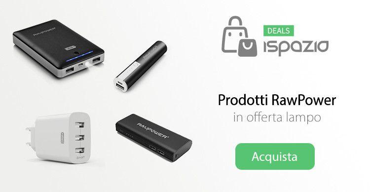 Caricatore a muro con 3 USB e diverse batterie esterne RavPower in sconto speciale solo per oggi!
